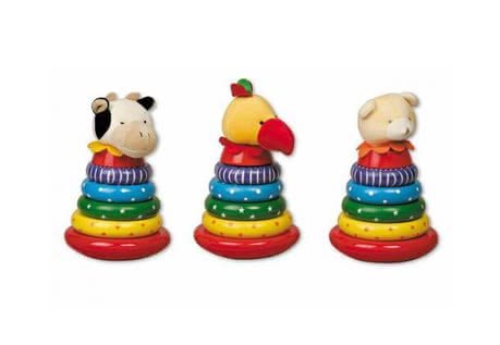 Wooden stacking tower with plush head 2014 - Image de grande taille