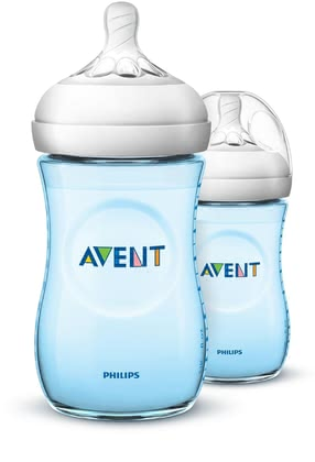 AVENT Close-to-nature bottles, double pack, blue 2017 - Image de grande taille