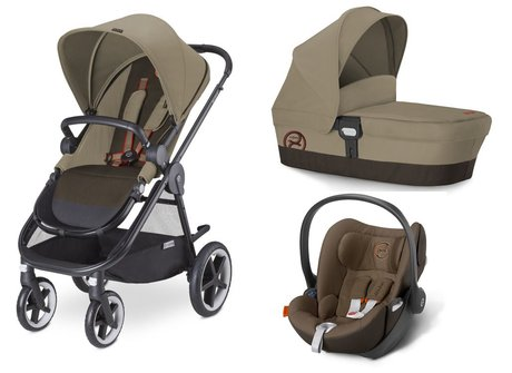 Cybex Stroller Balios M + carrycot attachment M + infant carrier Aton 4 Coffee Bean - brown 2015 - Image de grande taille