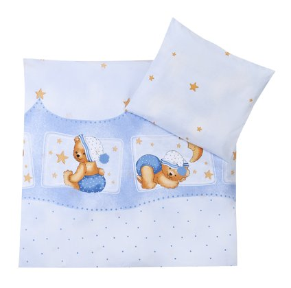 Zöllner 2-piece bedding set Cuddly Bear, blue 2016 - Image de grande taille
