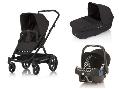 Britax Go Stroller incl. Carrycot and Römer Infant carrier Safe Plus SHR II Black Thunder 2015 - Image de grande taille