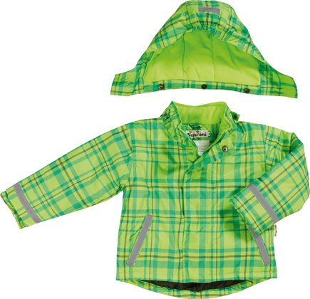 Playshoes snow jacket in a green/turqouise checked pattern 2016 - Image de grande taille