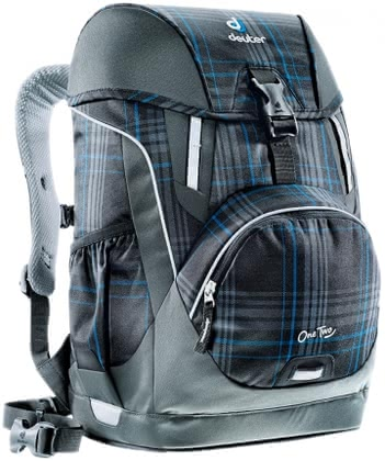 Deuter school bag OneTwo in blueline check 2016 - Image de grande taille