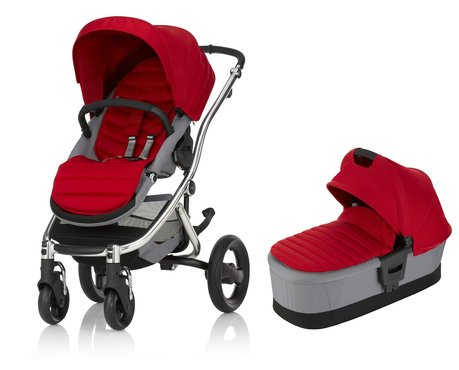 Britax Römer AFFINITY 2 incl. Couleur Pack + nacelle Flame Red 2017 - Image de grande taille